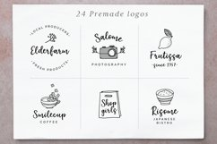Elderflower script  logos Product Image 3