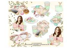 Planner Girl Clip Art/Planner Girl Clipart/planner girl Product Image 2