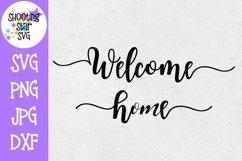 Welcome Home SVG - Living Room SVG - Home Decor SVG Product Image 1