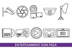 Entertainment Icon Bundles Line Art Product Image 1