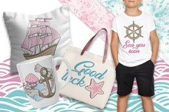PINK SEA Color Vector Illustration Set Product Image 3