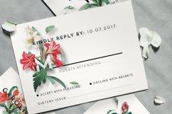 Modern Vintage Floral Wedding Invitation Suite Product Image 3