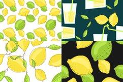 Lemon citrus pattern - set of 8 Product Image 3