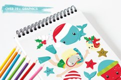 Christmas underwater graphics and illustrations Product Image 3