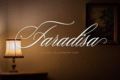 Web Font Faradisa Script Product Image 1