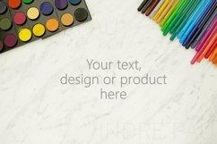 Background mockup for coloring pages design, svg background. Product Image 1