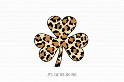 St Patrick's day shamrocks cheetah print svg. Shamrocks SVG Product Image 1