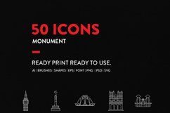 JI-Line Monument Icons Set Product Image 4