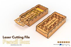 Pencil Box - laser cutting file Product Image 1