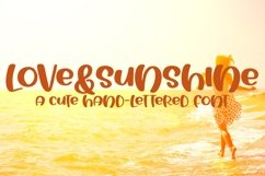 Web Font Love&Sunshine - A Cute Hand-Lettered Bold Font Product Image 1