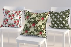 Design with buds, leaves and fruits of rose hip. Product Image 6