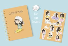 Girl with cat stickers Part 2 Product Image 5