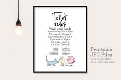 Toilet Rules - Printable Product Image 1