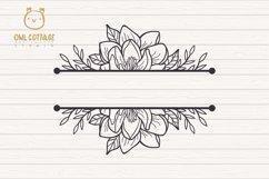 Magnolia mini Bundle SVG, Floral Monograms Cut Files, Weddin Product Image 5