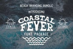 Coastal Fever - Font Package & Beach Textures Product Image 1