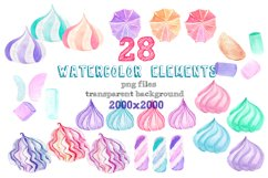 Marshmallow watercolor clip art Product Image 2