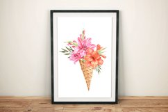 Lilies watercolor flower collection Product Image 3