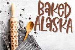 Baked Alaska - A fun hand lettered font! Product Image 1