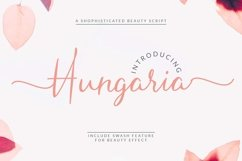 Hungaria - Sophisticated Script Font Product Image 1