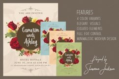 Floral Wedding Invitation Card Product Image 3