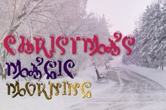 Snow-covered display font Product Image 5