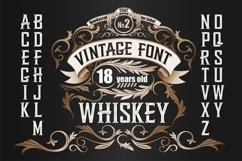 Whiskey OTF label font. Uppercase only! Product Image 1