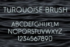 Turquoise Brush SVG Font Product Image 4