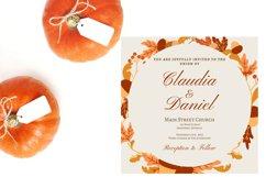 Autumn Wreath Wedding Invitation Product Image 5