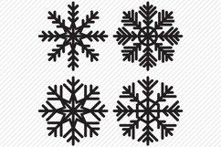 Snowflake Bundle SVG, Cut File, Christmas Shirt Designs Product Image 4