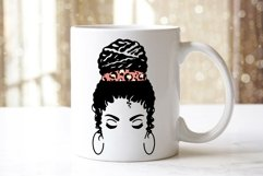 Messy Bun Mom SVG Mom Life Messy Bun Afro Women SVG Cut File Product Image 3