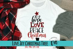 Joy Hope Love Peace Christmas SVG Product Image 2
