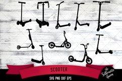 Scooter svg file, bike svg cut file, silhouette studio Product Image 1