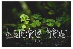 Lucky You Hand Lettered Shamrock Irish Font Product Image 1