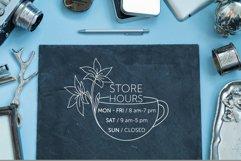 Minimalistic logo set. Logo templates. Schedule. Product Image 8