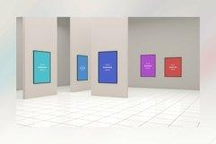 Large Art Gallery Frames Mockup 3D Product Image 1