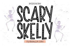 SCARY SKELLY a Halloween Display Font Product Image 1