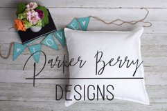 White Blank Pillow Mock up, Love, Pillow Template for svg . Product Image 1
