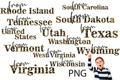 Sublimation, Png, the States of the USA 5 Product Image 1