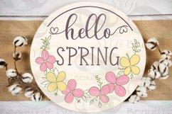 Farmhouse Spring SVG Round Svg Sign Bundle, 6 svg cut files Product Image 3