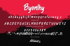 Byonlhy Dry Brush Typeface Product Image 4