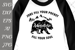 """Adventure Fill Your Soul Svg: """"MOUNTAINS SVG"""" Camping Svg,Bear Svg,DIY Outdoors Product Image 1"""