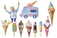 Ise cream clipart,dessert clip art Product Image 3