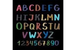 Calligraphy alphabet on black background Product Image 1