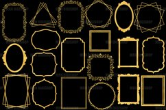 Gold Frames Clipart Set of 20 Product Image 2
