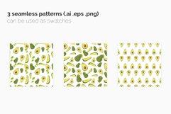 Avocado Seamless Patterns Product Image 2