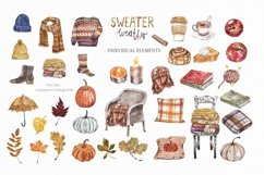 Fall Clipart Watercolor Autumn Cozy Painting Clip art Product Image 2