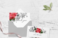 CHRISTMAS FLORAL Pointeness watercolor clipart Product Image 5