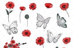 Poppy Clip Art Product Image 2