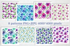 Bright Watercolor Pansies Product Image 6