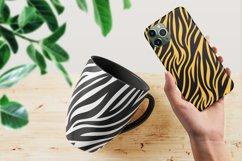 Tiger Zebra Print Seamless Pattern Repeat Animal Texture SVG Product Image 2